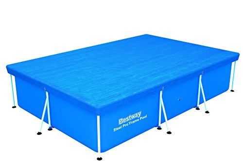 Bestway 58106 Frame Swimming Pool Cover, 118-Inch by 79-Inch
