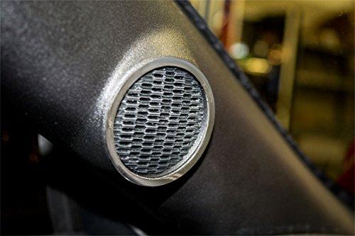 (American Car Craft 271040 Polished Speaker Trim Ring, 2 Piece (Tweeter Polished))