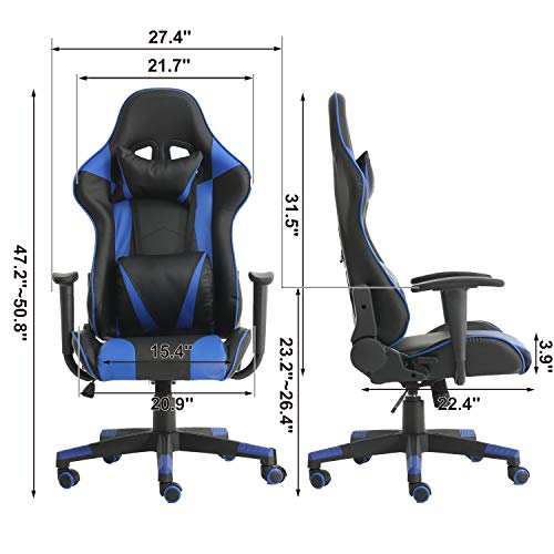 Lch Gaming Racing Chair Ergonomic High Back Adjustment