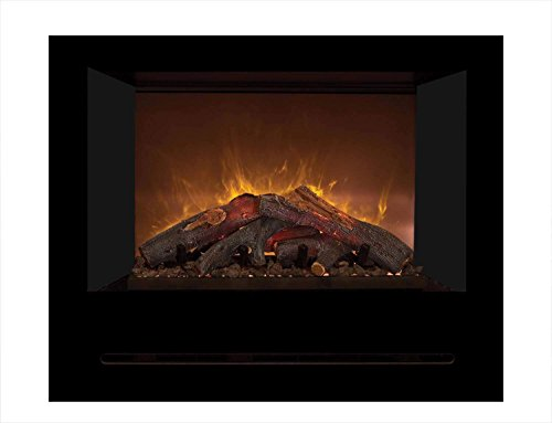 Cheap Modern Flames Home Fire Series Electric Fireplace with Log Set and Black Glass Side Panels 36-Inch Black Friday & Cyber Monday 2019