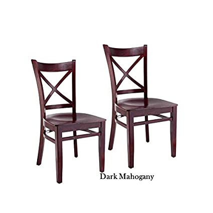 Miraculous Amazon Com Beechwood Mountain Llc Cross Back Cherry Finish Pabps2019 Chair Design Images Pabps2019Com