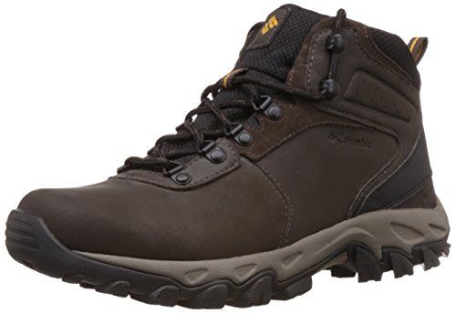 Columbia Men's Newton Ridge Plus II Waterproof Hiking Boot, Cordovan/Squash, 9.5 D US