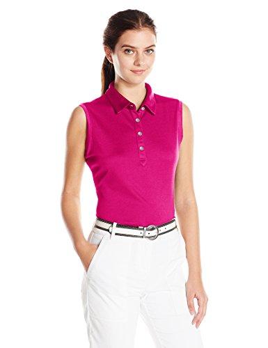 Cutter & Buck Womens Moisture Wicking, UPF 50+, Sleeveless Clare Polo Shirt