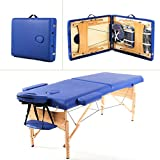 Blue Portable Massage Table w/Free Carry Case T1 Chair Bed Spa Facial Discount for Business Customers and B2B by Smart Choice America