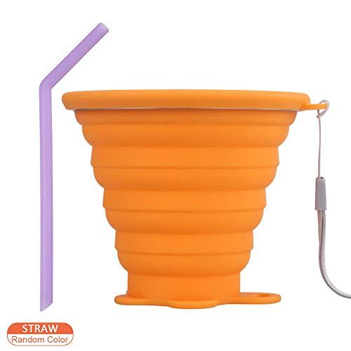 DAZISEN Vaso Plegable Silicona - Vaso con Tapa sin BPA para ...