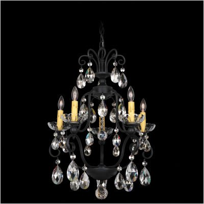 - Schonbek 1705-23 Century 6-Light Chandelier with Clear Heritage Crystal, Etruscan Gold