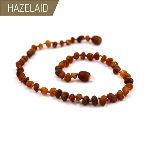 Hazelaid (TM) 12'' Baltic Amber Nutmeg Necklace (semi-polish) by HAZELAID