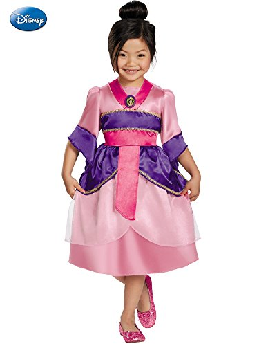 Disguise Disney's Mulan Sparkle Classic Girls Costume, -