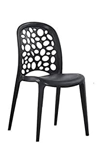 Set of 4 Plastic Dining Chair Peacock Chair