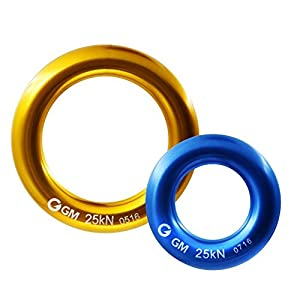 GM CLIMBING Rappel Ring Connector Pack of 2 for Rope Retriever Friction Saver Set