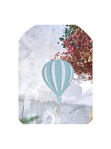 (50pcs Balloon Wine Glass Place Name Cards Markers Party Table Invitation Cards Party Event Decoration Supplies,WHITE)