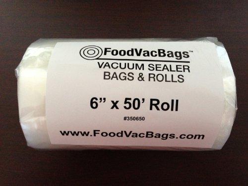 "1 - 6""x50' FVB Vacuum Sealer Bag Roll Commercial Grade FoodS"