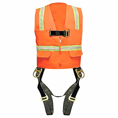 Madaco Roof Construction Fall Protection Heavy Duty Full Body Industrial Safety Harness Size XL ANSI OSHA H-TB205-AV-XL by Madaco Safety Products