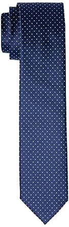 VAN HEUSEN Men's Dots Tie Dots Tie, Blue (Navy), One size