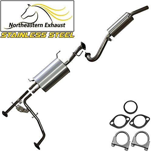 Stainless Steel Exhaust System Kit fits Nissan 01-04 Pathfinder Infiniti - Fit Kit System