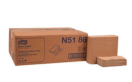 Tork N5186 Universal Dinner Napkin, 1/8 Fold, 1-Ply, 17.0