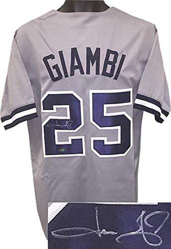 b7bb61913 Jason Giambi Autographed Jersey - Gray TB Custom Stitched Pro XL Leaf  Authentics Hologram - Autographed