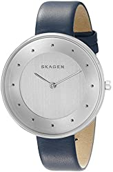 Skagen Women's SKW2315 Gitte Stainless Steel Watch with Blue Leather Band