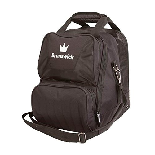 Brunswick Crown Single Tote Bowling Bag, Black For Sale