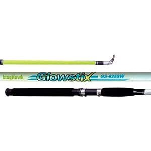 KingHawk 2 Piece Medium HyperGlow Cast Rod (9-Feet)
