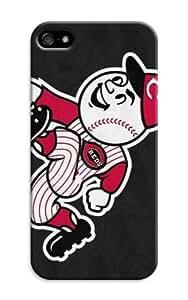 LarryToliver Coolest iphone 5/5s Customizable Baseball Cincinnati Reds Cases Cover Standard Size