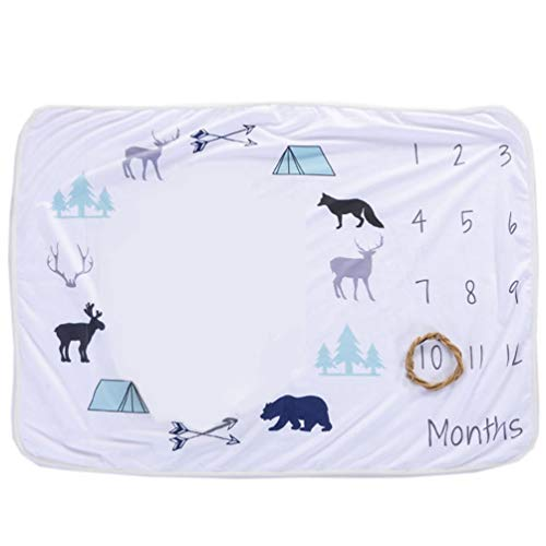(Meslio Newborn Photo Blanket, Baby Monthly Milestone Blanket,Photography Props Shoots Backdrop for Boys Girls,, 30
