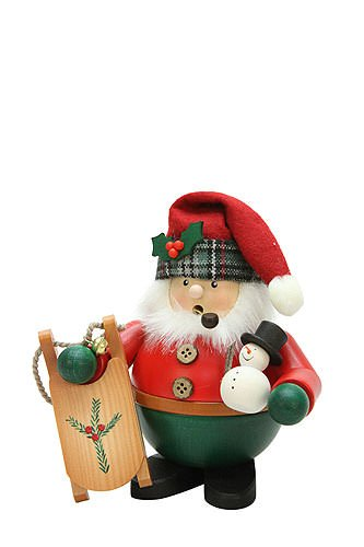 German Incense Smokers Santa with Sleigh - 15,5cm / 6 inch - Christian Ulbricht by Authentic German Erzgebirge Handcraft