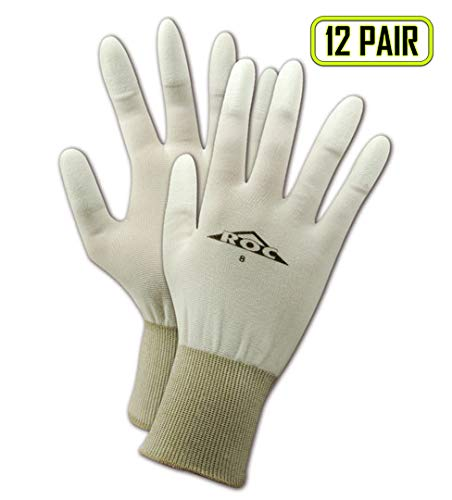 MAGID PU586 ROC Polyurethane Fingertip Coated Gloves, 6