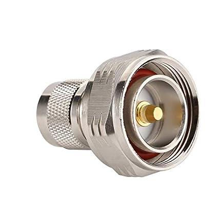 L29 7/16 DIN Microondas RF Adaptador coaxial DIN Macho a N Macho ...