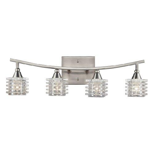 Elk Lighting 17132/4 Matrix Four Light Bath Bar, Satin Nickel from ELK