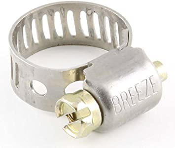 Stainless Steel 10 Pack BREEZE CLAMP 63010 9//16 to 1-1//16 Grade Hose Clamp
