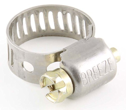 1/2''-7/8'' Worm-Drive Hose Clamps, SAE 8 - (pack of 10)