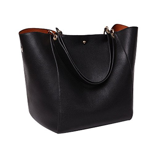 02e96990af YAAGLE PU Leather Large Totes Shoulder Bag With Removable Inside Hand Bag  for Women Girls by