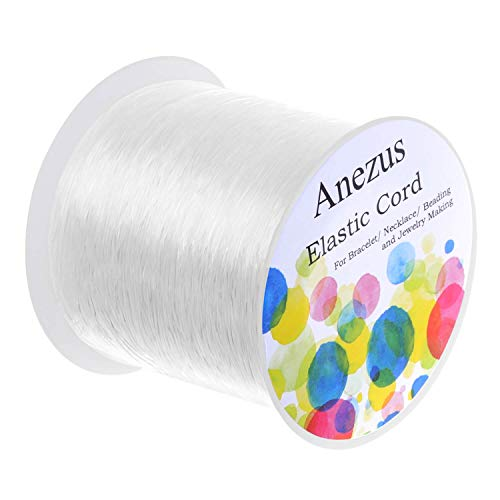 Elastic String for Bracelets, Anezus 1mm Elastic Bracelet String Beading String Jewelry String Stretch Cord for Bracelets, Jewelry Making, Beads