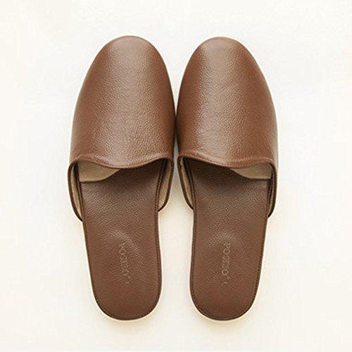 Cómodo Cuatro estaciones del hogar de piso de madera piso zapatillas Parejas suave fondo suave zapatillas zapatillas (4 colores opcional) (tamaño opcional) Aumentado ( Color : A , Tamaño : 38-39 ) C
