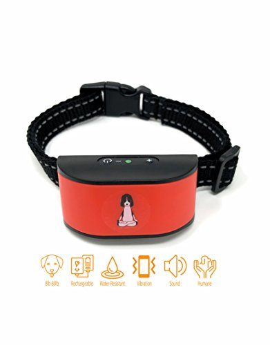 Bark Collar   For Small  Medium Dogs   Humane  Pet Safe Training Collar For Dog With No Shock  Rechargeable And Water Resistant No Bark Control  2018 Version With Smartchip