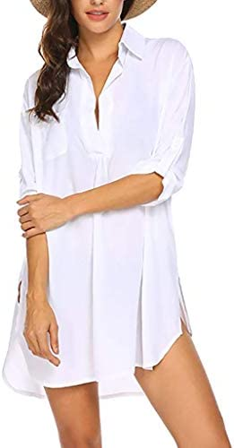 Women's Swimwear Cover Ups Shirt Bathing Suit Beachwear Swimsuit Beach Dress