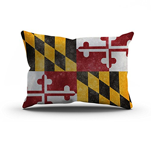 nd State Flag Pillow Cover, Maryland Flag Throw Pillow Covers 12 X 20 Inches By Maryland(1220) ()