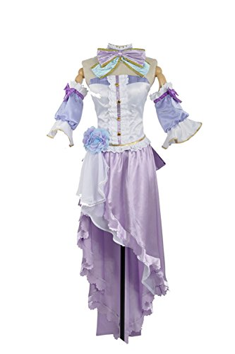 Love Live Nozomi Tojo White Valentine's Day Angels Awakening Kimono Dress (Medium Female, Purple Tojo) ()