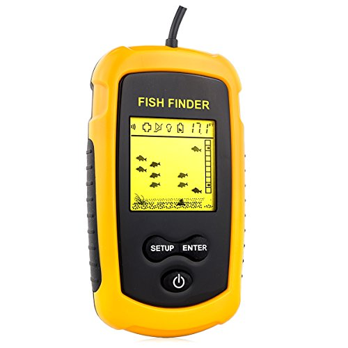 Get venterior portable fish finder fishfinder with wired for Amazon fish finder