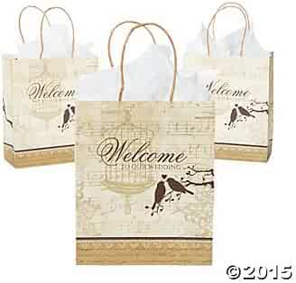 Medium Perfectly Paris Gift Bags (1 dz) by Fun Express