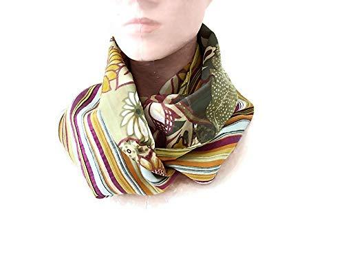 nouveaux produits pour où puis je acheter grand assortiment snood femme coton fleurs et rayures vintage, tour de cou en ...