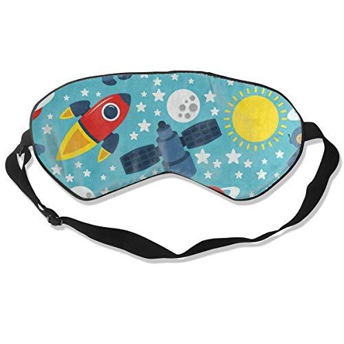 Custom Sleeping Mask Cartoon Space Solar System Adjustable Breathable Sleep Mask/Sleeping Eyes Mask/Sleep Eyes Mask/Eyeshade/Blindfold -
