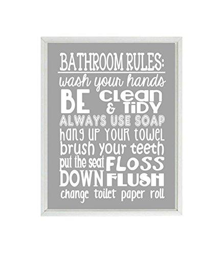 Beau Bathroom Rules Wall Art, Kids Bathroom Rules, Wash Your Hands, Child  Bathroom,