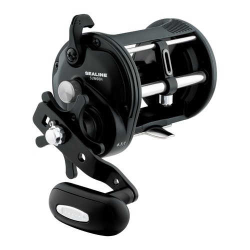 Daiwa SLW60H Sealine Saltwater Levelwind Reel, 60, 6.1: Gear Ratio, 1BB. !RB Bearings, 20 lb Max Drag, Right ()