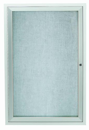 "Outdoor Enclosed Aluminum Indoor 1-Door Bulletin Board Cabinet - 36"" H x 24"" W from Aarco Products Inc"