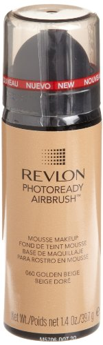 REVLON Photoready Airbrush Mousse Makeup, Golden Beige, 1.4 Ounce