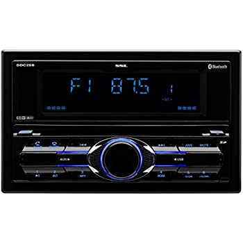 Sound Storm DDC28B Double Din, Bluetooth, CD/MP3/USB/SD AM/FM Car Stereo, (No DVD) Detachable Front Panel, Wireless Remote