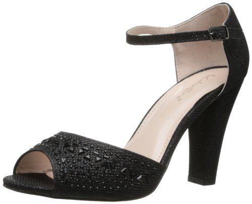 (Coloriffics Women's Abbey Dress Sandal,Black,7.5 M US)