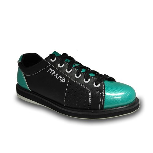 Pyramid Womens Path Bowling Shoe (Black/Teal, Size 8.5)